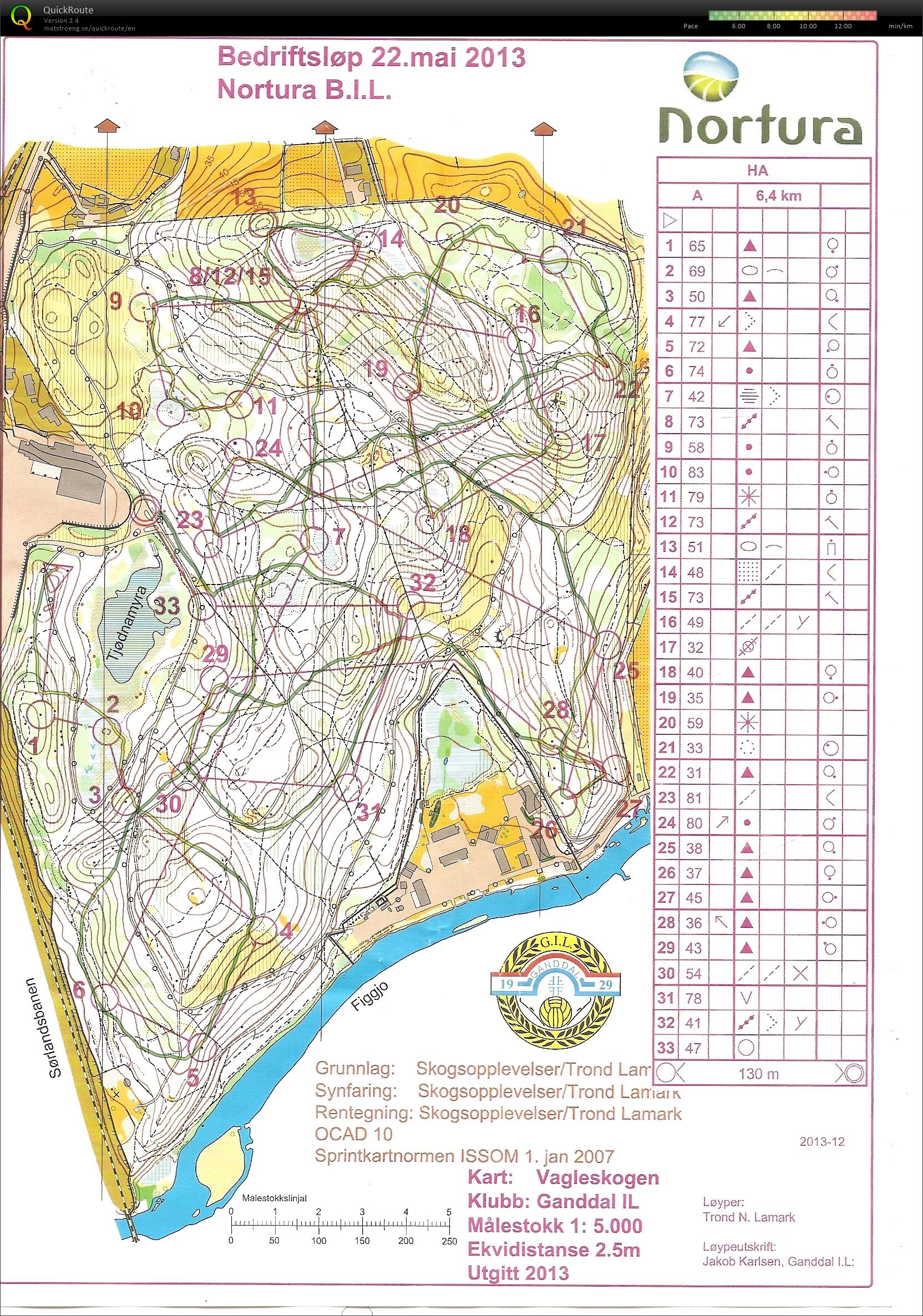 vagleskogen kart Mitt digitale veivalgsarkiv :: Bedriftsløp 7 Vagleskogen (2013 05 22) vagleskogen kart