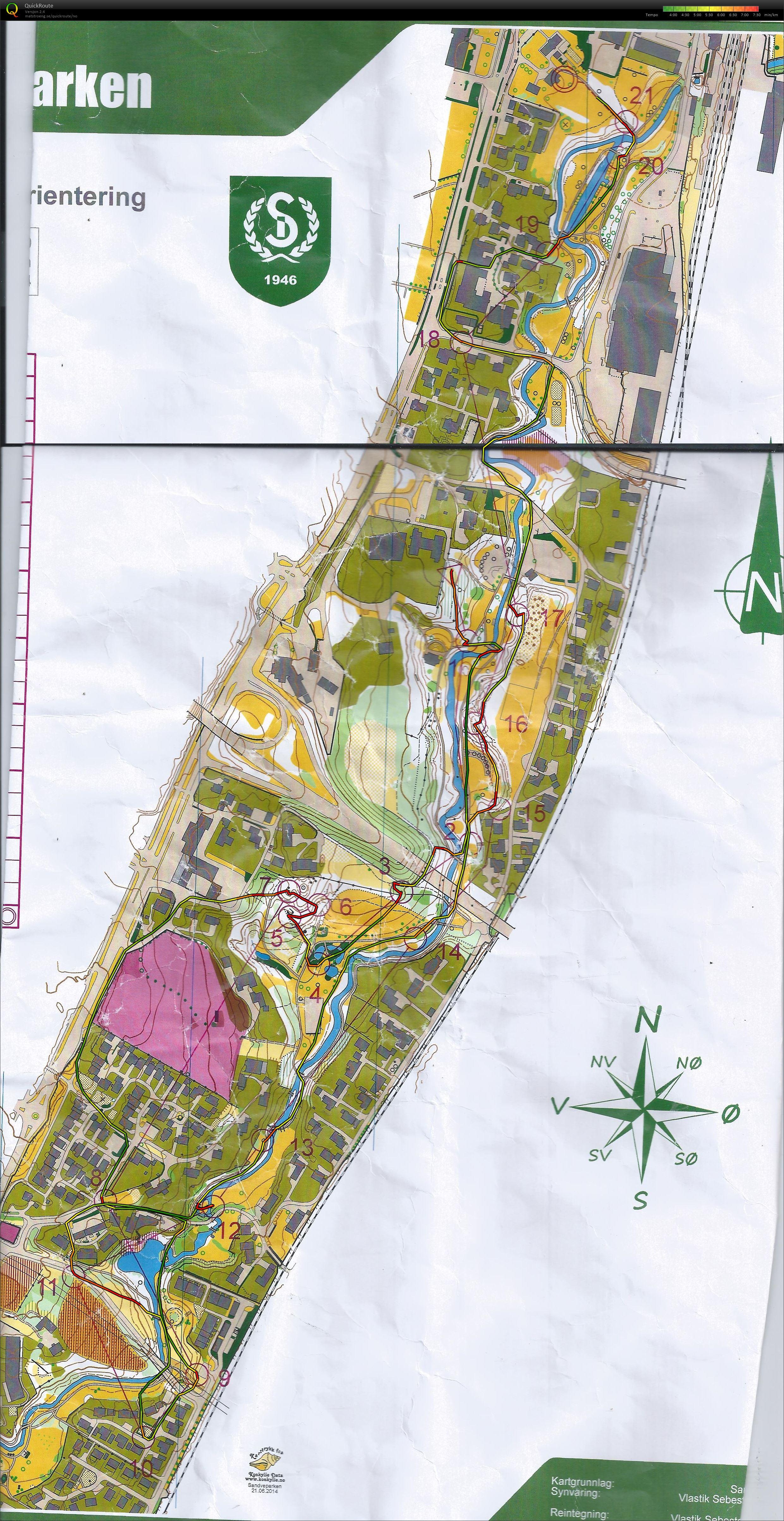 sandvedparken kart Mitt digitale veivalgsarkiv :: KM Sprint Rogaland (21/06/2014) sandvedparken kart